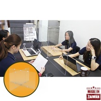 Meeting conference panels desk divider stand cubicles plexiglass sneeze guard for office space