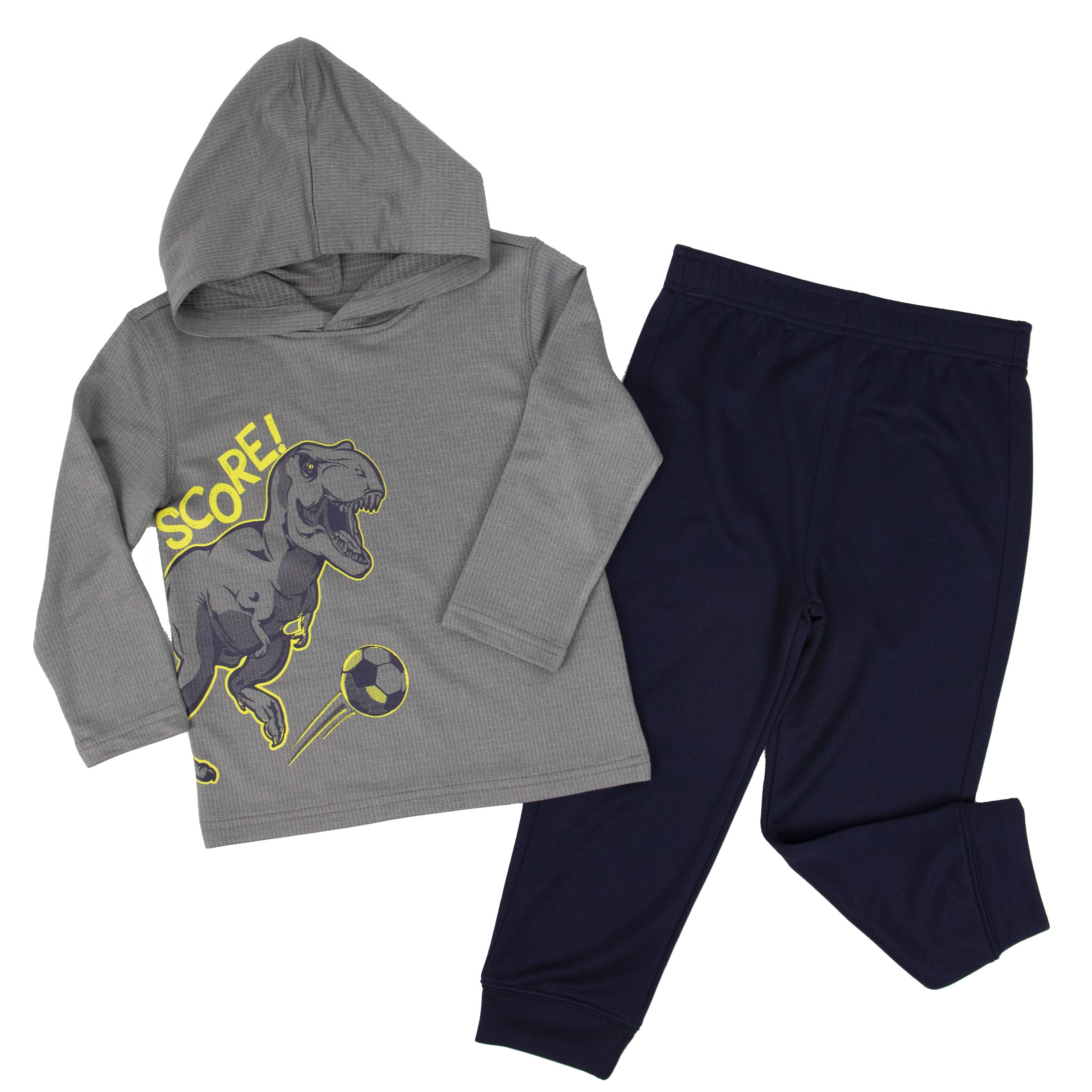 2020 Fall Baby Dinosaur Hoodie Shirts Pants Kids Sets Gray Outfit Children toddler Active Wear Print Clothes Boy