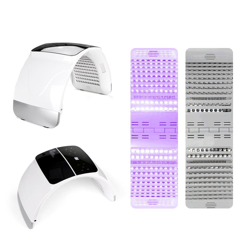 7 colori LED Photon Terapia di Ringiovanimento Della Pelle Del Viso Cura Lampada