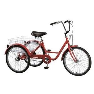 24Inch Steel Frame 3 Wheel Trike Pedal Bike Modern Cargo Rickshaw Classic Trike