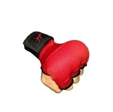 100% elastische Baumwolle MMA Boxen Hand Wrap Innere <span class=keywords><strong>Gel</strong></span> Padded Rot Handschuhe