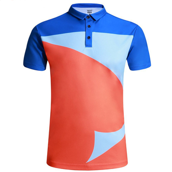 Summer Short Sleeve Polyester Clothing Custom Printing Slim Fit Stock Polo T Shirt
