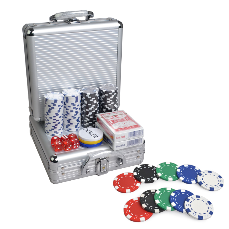 100 PCS poker chip set casino texas hold em premium poker chip set