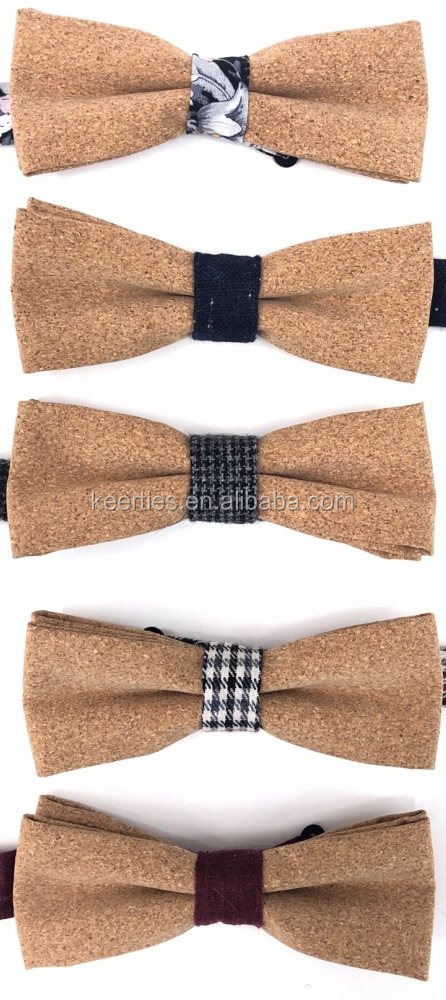 High quality colorful cork bow tie