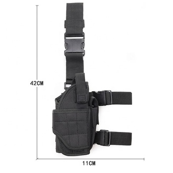 Universal Design Adjustable Molle Tactical Military Drop Leg Gun Holster