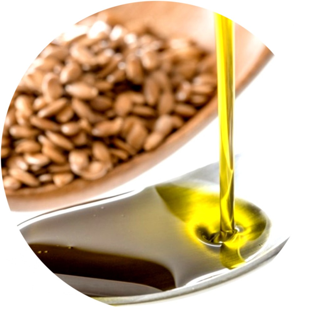 Pure Cold Pressed ดิบดิบ Flaxseed Oil Linseed Oil