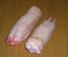 Frozen pork hind and front feet for export
