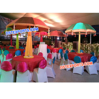 Wedding Colorful Umbrella For Table Decoration,Mehndi Theme Umbrella Table  Centerpieces,Traditional Handmade Colorful Indian , Buy Indian Wedding