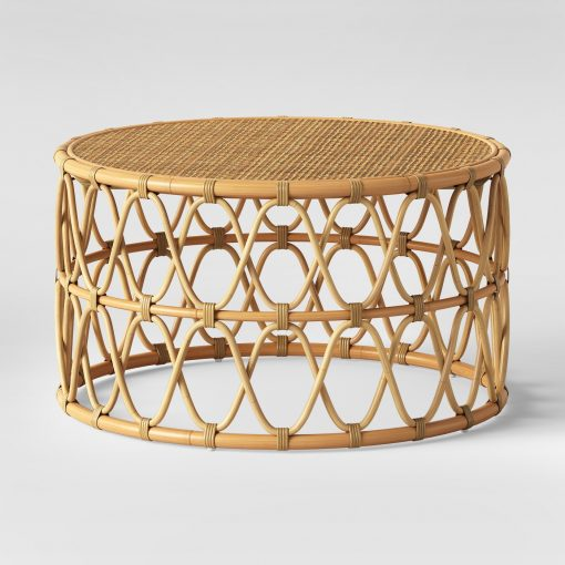 Round Rattan Coffee Table View