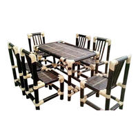 High quality commercial restaurant wooden dining chair and table set from India