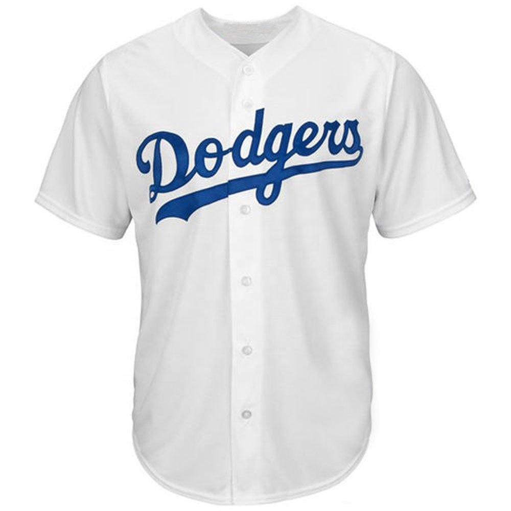 Dodger Wit Mannen Baseball Sublimatie Jerseys