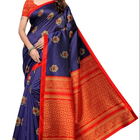 Mulit Color Georgette Fabric Printed Designer Saree With Blouse