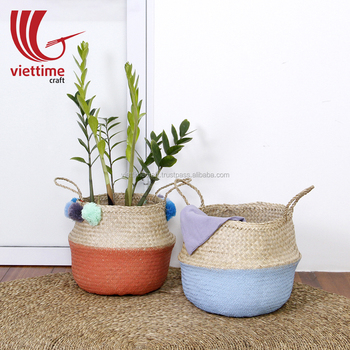 Wholesale Best Seller Seagrass belly basket, Seagrass Basket Vietnam, Seagrass Storage basket