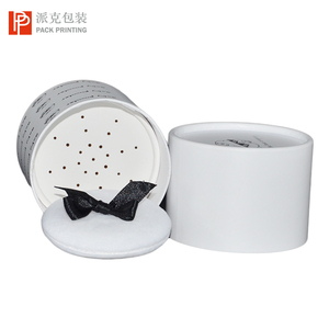 Luxury top lid cosmetic cream jar loose face powder paper packaging jar  with sifter