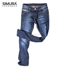 Men Fashion Denim 2019 Guaranteed Quality Cotton Spandex Dark Blue Washed Jeans