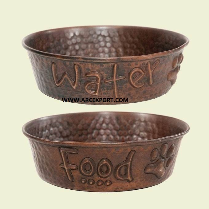Designer decor pet feeder bowl