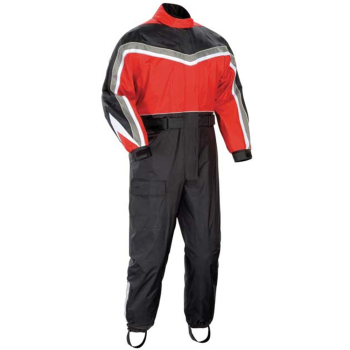 Custom One Piece Rain Suit with reflective strip, motorcycle rainsuit