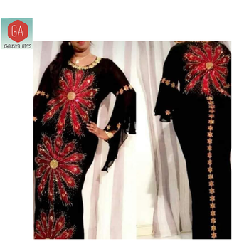 Black printed Beautiful Kaftans & abaya