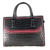 Wholesale Genuine Crocodile Leather Black Tote Bag