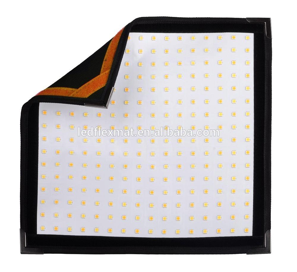 Flexible led mat 1'x1' size, Bi-color 60W camera light for photography studio