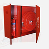 Fire Hose Reel Cabinet with Extinguisher Outside Wall