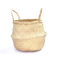 Ecofriendly natural seagrass belly basket for plants 100% handmade cheap wholesale