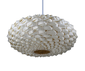Vintage Handmade craft bamboo and rattan wicker lampshade