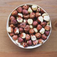 Natural Roasted and 100% Organic whole hazelnuts fresh