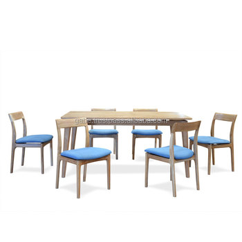 e355942d17 Furniture Set, Dining Table With 6 Chairs Japanese Style,Model Kenju, Solid  teak