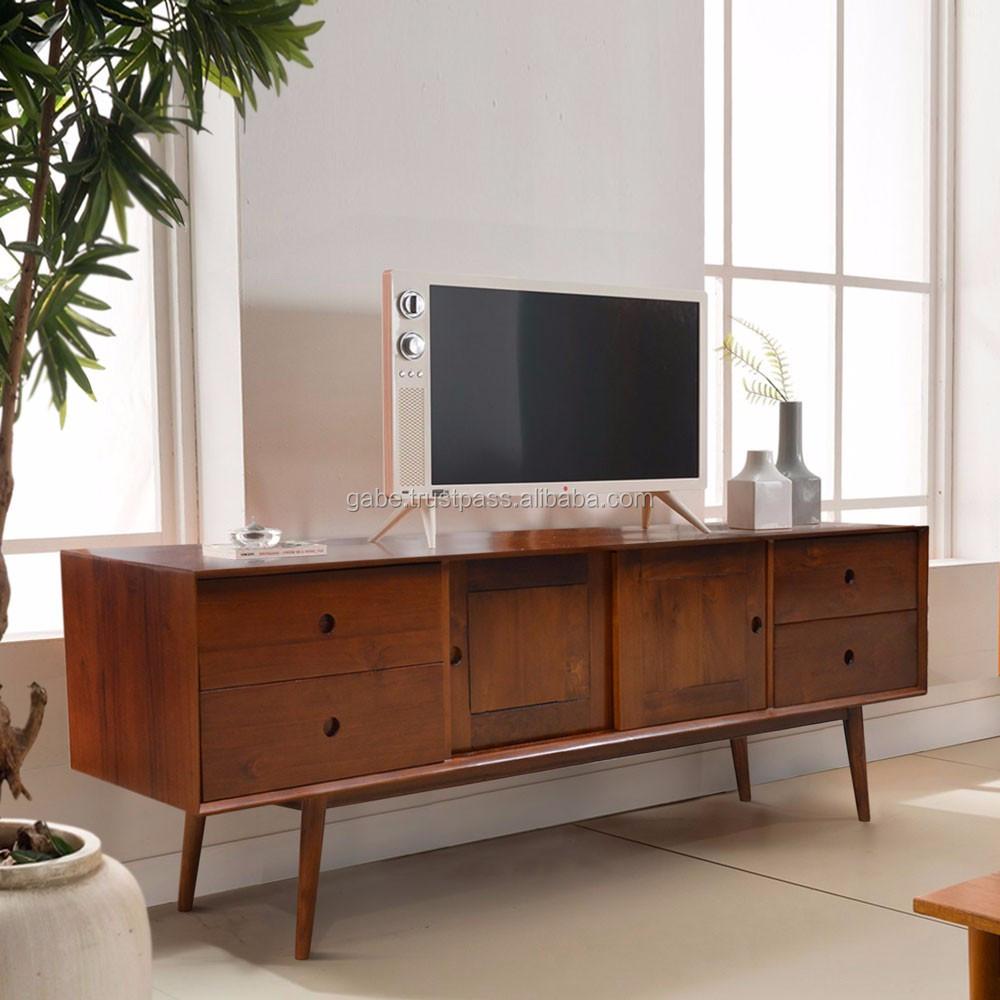 Modern Teak Tv Meubel.Sideboard Tv Vintage Melamic Colour Teak Wood Furniture Indonesia