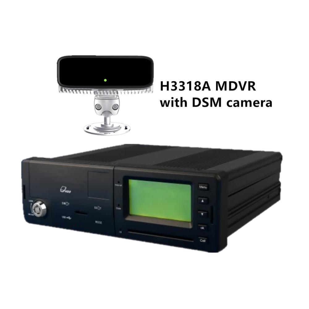 Mobiele DVR H3318A 3G/4G MDVR met AHD720P Camera Auto DVR Video Recorder en DSM camera Voertuig driver Alarm voor Fleet management