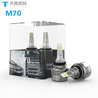 Guangzhou auto parts led hot Super bright D2S led headlight 12V 24V Voltage M70 led motorcycle headlight h4 h7 h11 h16 880 HB3