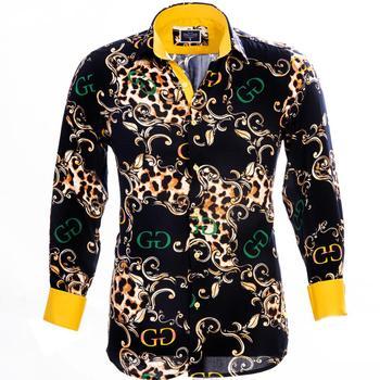 Leopard Design Dress Shirt