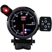 80mm LED Display Electrical Digital RPM Tachometer for diesel