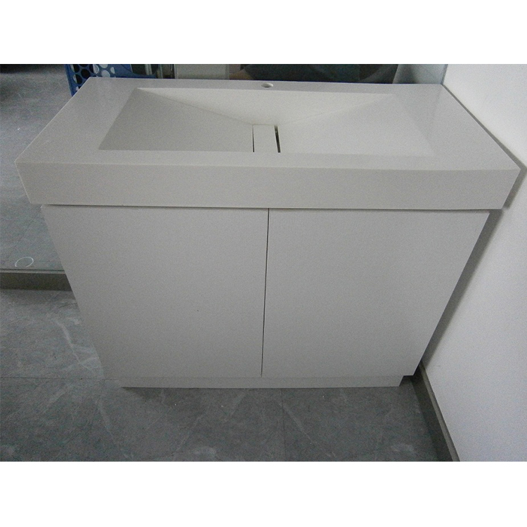 Snow White Matt Surface Modified Acrylic Solid Surface Bathroom