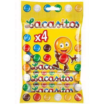 Chocolate Candy Dragees for Children Wholesale Gluten free | Lacasitos | Pack 4 Tubes x 20gr. - Lacasa