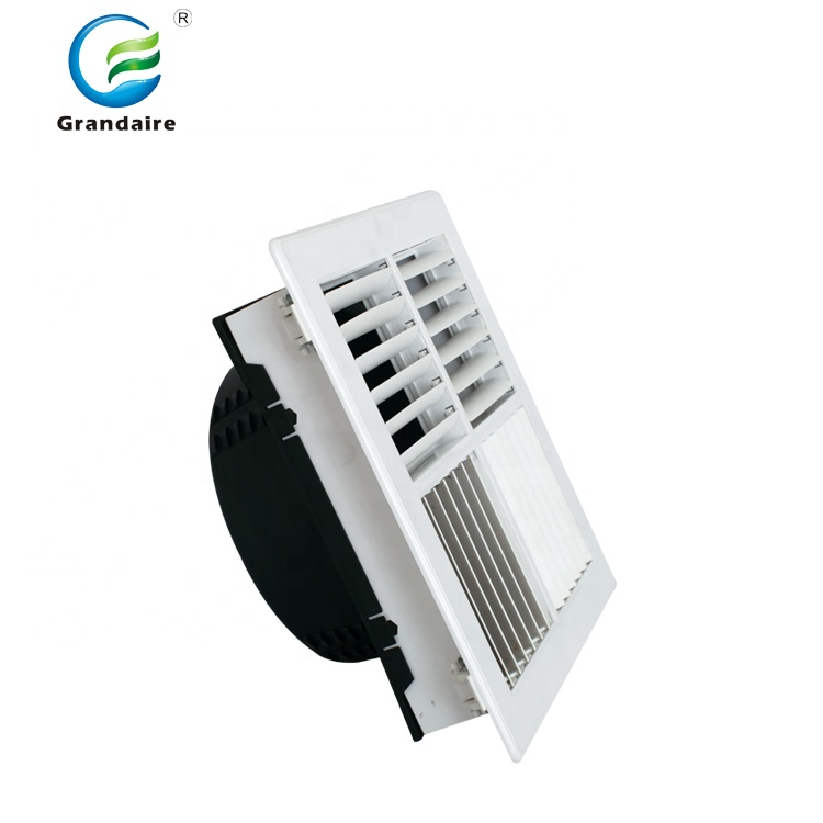 China Factory Plastic Grilles And Diffusers Multi-directional Outlet With  Adaptor Optional In Hvac System - Buy Grilles And Diffusers,Ceiling Vent