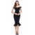 2019 New Arrive Summer Women Celebrity Party Bandage Dress Vestido Sexy Black Ruffles Sleeveless Bodycon Club Dress