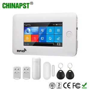 IOS Android play APP store remote controlled WIFI wireless smart manual GSM  home burglar security alarm PST-WG106