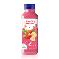 15.2 fl oz NAWON Bottle Fruit Smoothie Strawberry with Banana