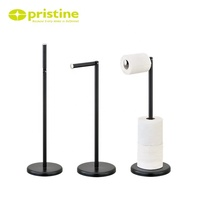 Made in Taiwan Chrome Black White Free Standing Toilet Tissue Paper Roll Holder For Bathroom