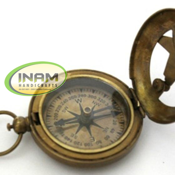 Unique Nautical Beautiful and designer Decorative Handmade brass sundial compass By INAM HANDICRAFTS