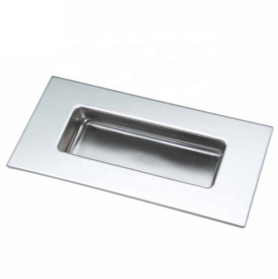 polished finish 120x40mm Square Edge Stainless steel Flush pull,handles