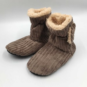 Unisex Indoor Corduroy Fluffy Slipper Socks Boots Lounge Floor Non Slip House Lined Socks Boot Super Cozy Hospital Slippers Boot