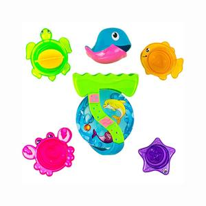 Best Bath Toy for Kids, Babies and Toddlers Sea Animals Bath Stacking Cups - Kids Bath Time Play Set (Multi-Colour)