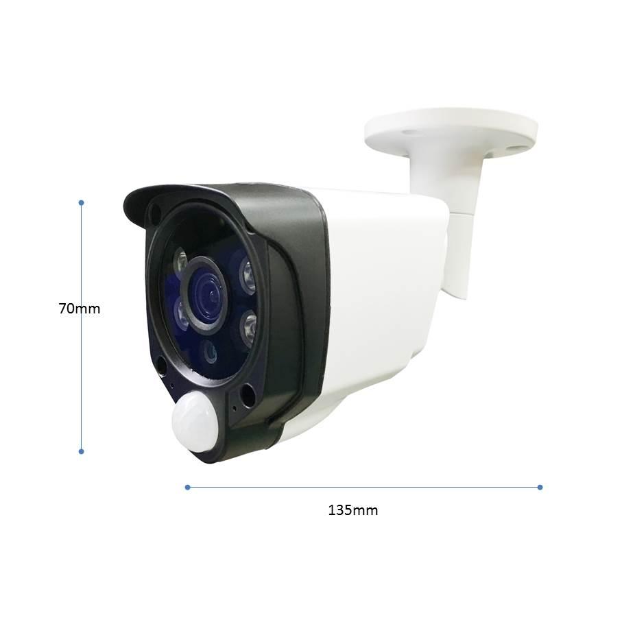 H.264 H.265 1080P 4MP Dual light IP Tube Camera w/ PIR