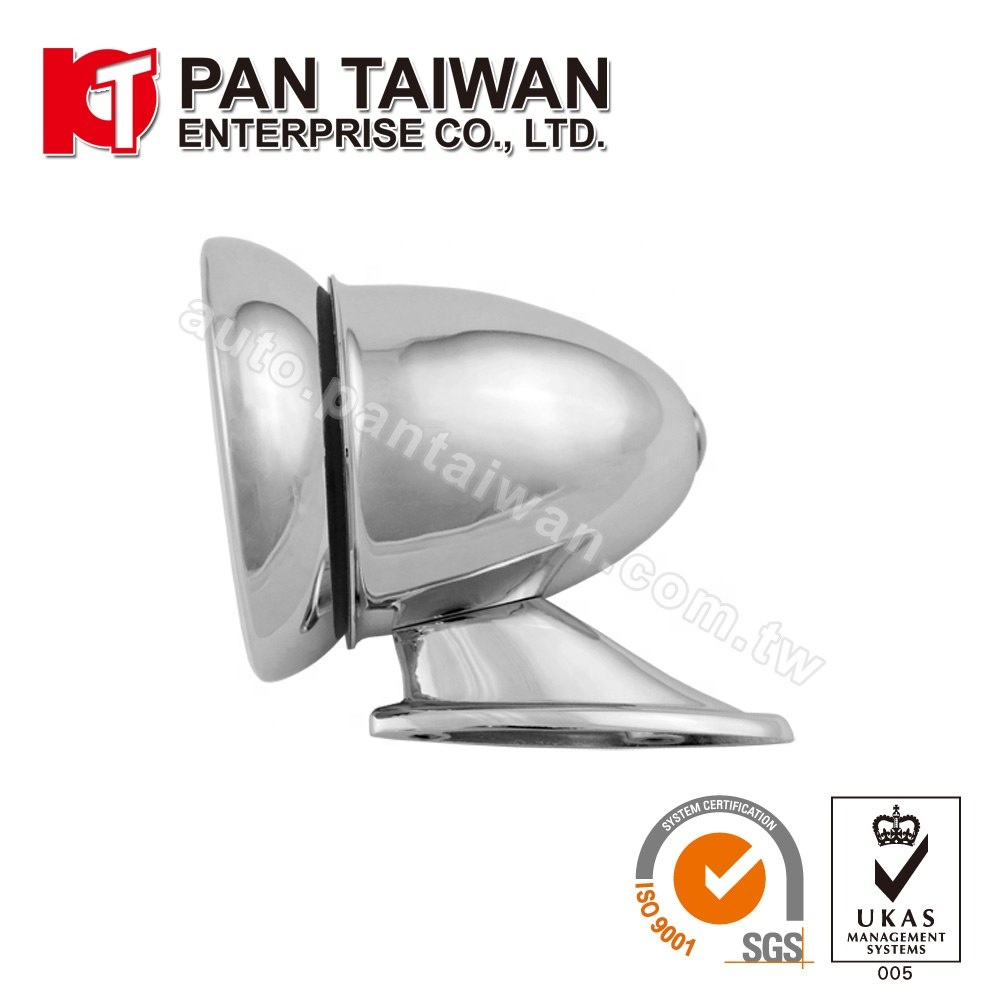 Universal Classic Bullet Style Rear View//Side Car Mirror Chrome Flat Glass