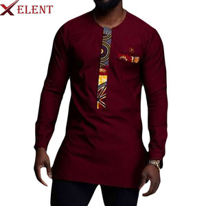 2019 Wholesale summer T shirt African Printing style New designs african pattern men T shirts