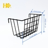 Black wall hanging storage basket for gridwall
