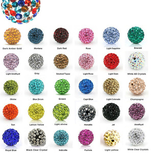 10mm Crystal Elements Pave Rhinestone Disco Ball Beads